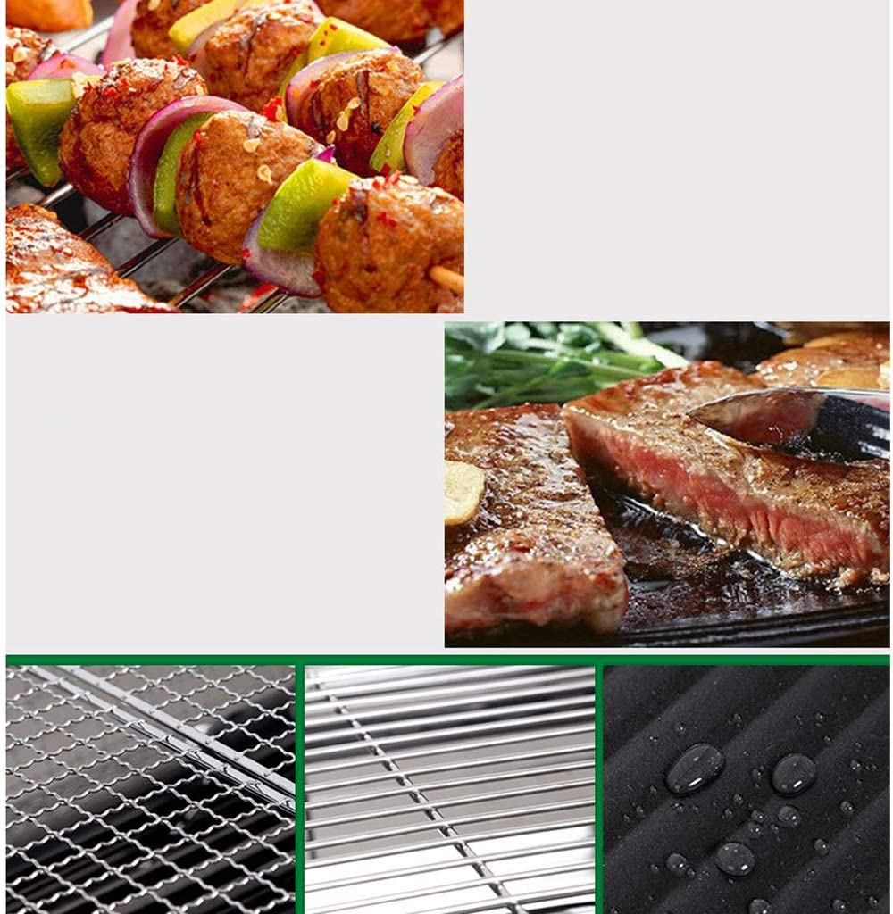 WangQ Barbecue, Barbecue Grill Ménage for 3-5 personnes charbon Outils Barbecue extérieur carbone Grill Poêle portable, 73x33.5x71 cm un barbecue (Color : A) A