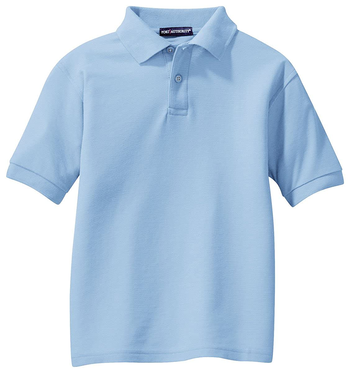 Port Authority Youth Silk Touch153; Polo Light Blue Y500