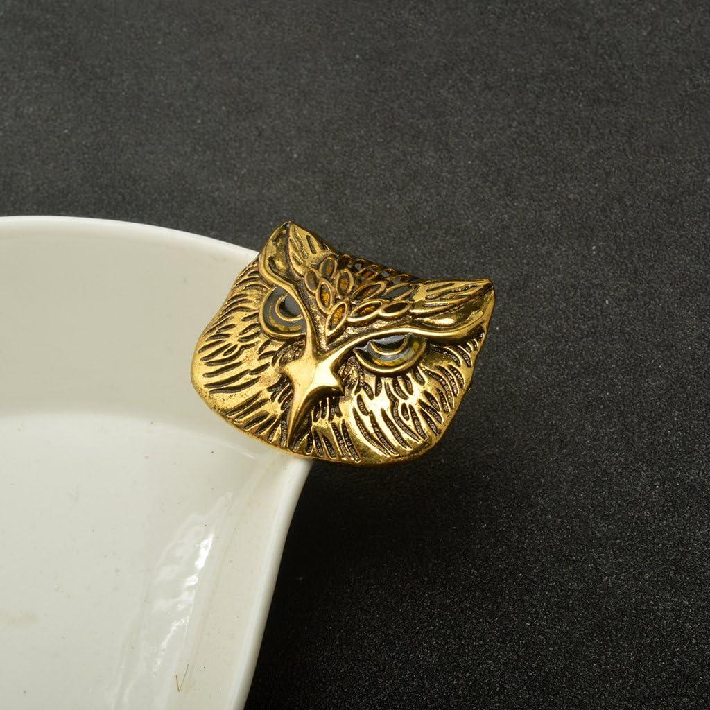 Bonarty Women Men Charm Bronze Vintage Owl Animal Brooch Pin Unisex Jewelry