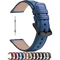 Fullmosa 6 Colores para Correa Reloj de Cuero Pulido 18 mm/20 mm/22 mm, YOLA Serie Pulsera de Piel para Relojes de…