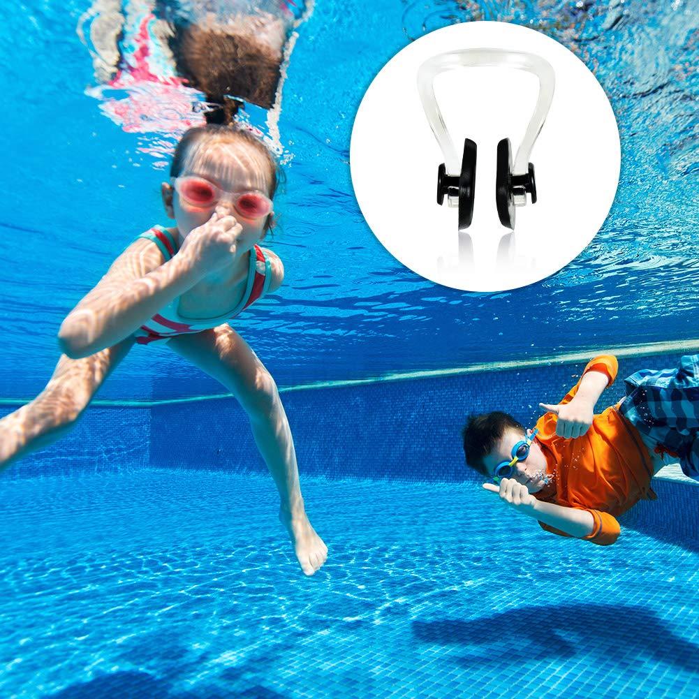 Thursday April Nasenklammer Schwimmen 10 St/ücke Nase Clip wasserdichte Nasenklammer f/ür Erwachsene und Kinder Schwimmen Freitaucher und Anf/änger
