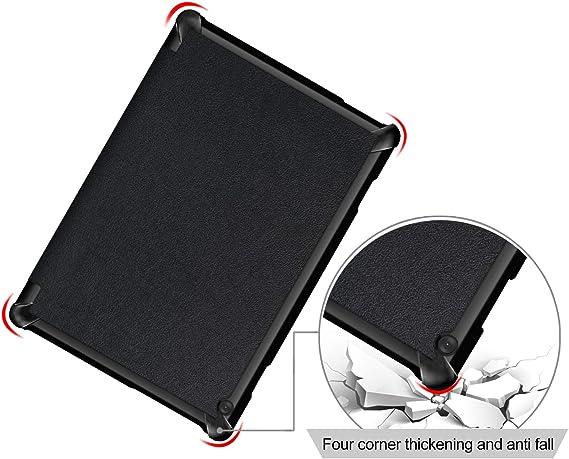 Nero Kepuch Custer Lenovo Tab 4 10 Plus TB-X704F TB-X704N Custodia PU Pelle Folio Custodia Case Cover per Lenovo Tab 4 10 Plus TB-X704F TB-X704N