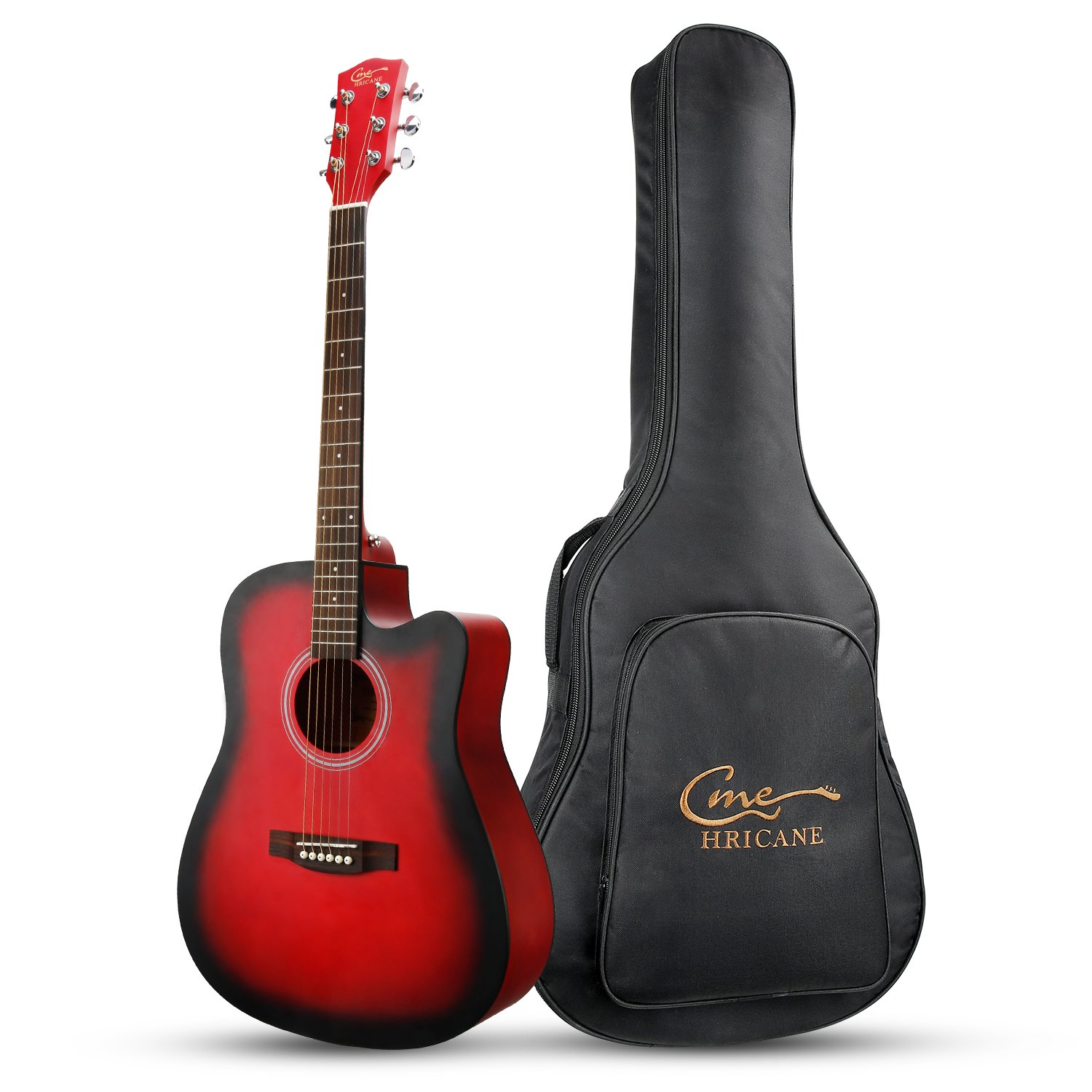 hricane beginner acoustic guitar 41 full size guitar