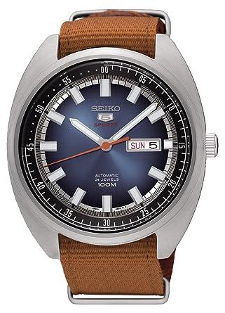 Seiko Reloj Analogico para Hombre de Mecánico con Correa en Tela SRPB21K1: Amazon.es: Relojes