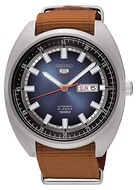 Seiko 5 'turtle' Sports 100 M Watch Blue Gradation Dial Nato Watch Srpb21 K1 by Seiko