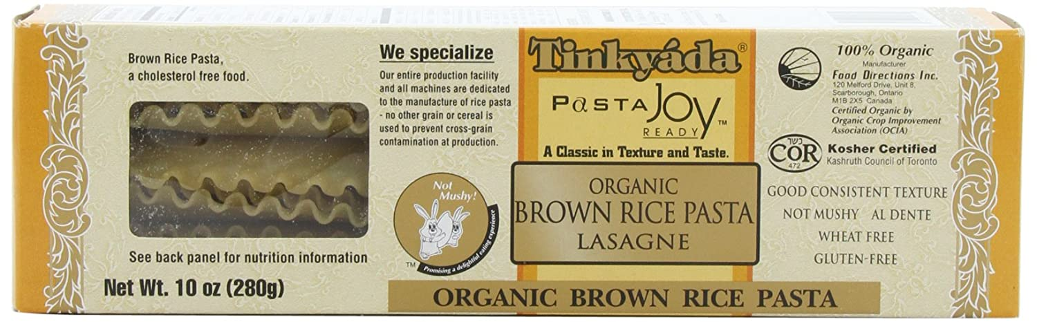 Tinkyada Brown Rice Pasta, Lasagne, 10-Ounce (Pack of 6)