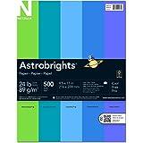 """Astrobrights Color Paper, 8.5"""" x 11"""", 24 lb / 89 gsm, """"Cool"""" 5-Color Assortment, 500 Sheets"""