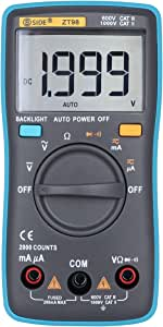 BSIDE ZT98 Digital Multimeter Auto Range TRMS DMM AC/DC Ammeter Voltage Resistance Diode Meter Tester with Backlight
