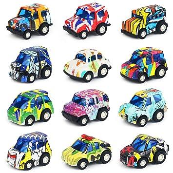 1f6e7783e47c8b Nuheby Jouet Voiture Bebe Miniature Petites Mini Voiture Enfant Graffiti  Pull Back Lot Jeux Vehicule Enfant