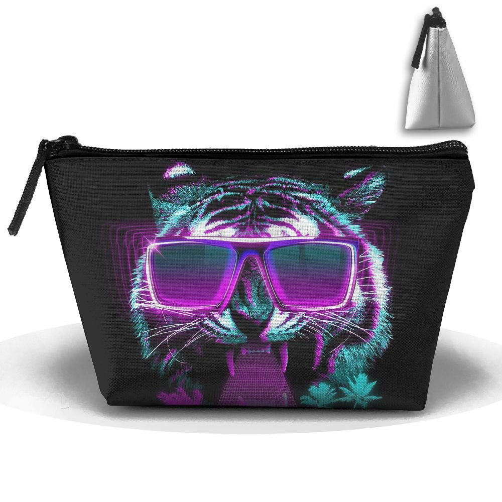 Portable Travel Cool Tiger With Sunglasses Storage Pouch Cosmetic Toiletry Bags Organizer Travel Accessories by Homlife