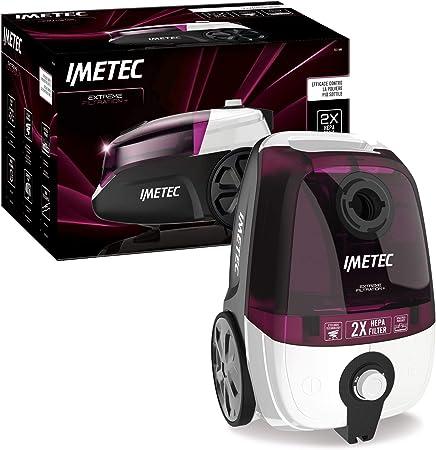 Imetec Extreme Filtration + 8175 - Aspirador sin Bolsa, Compacto, Doble Filtro HEPA hipoalergénico, Cepillo para parqué, tecnología ciclónica, Potencia Regulable: Amazon.es: Hogar