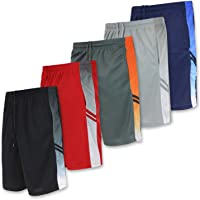 fc391415f5ba7a Real Essentials Men s Active Athletic Performance Shorts with Pockets - 5  Pack