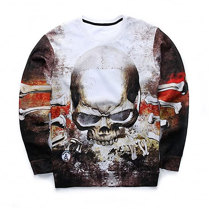 Amazon.com: Crochi 3D Tie Dye Skull Printed Sweatshirt Men Hip Hop Fashion Harajuku Mens Hoodies and Sweatshirts Homme Graphic Sudaderas Hombre: Clothing