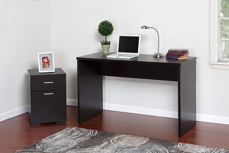 DK Furniture Modern 2 Drawer Cabinet, Espresso