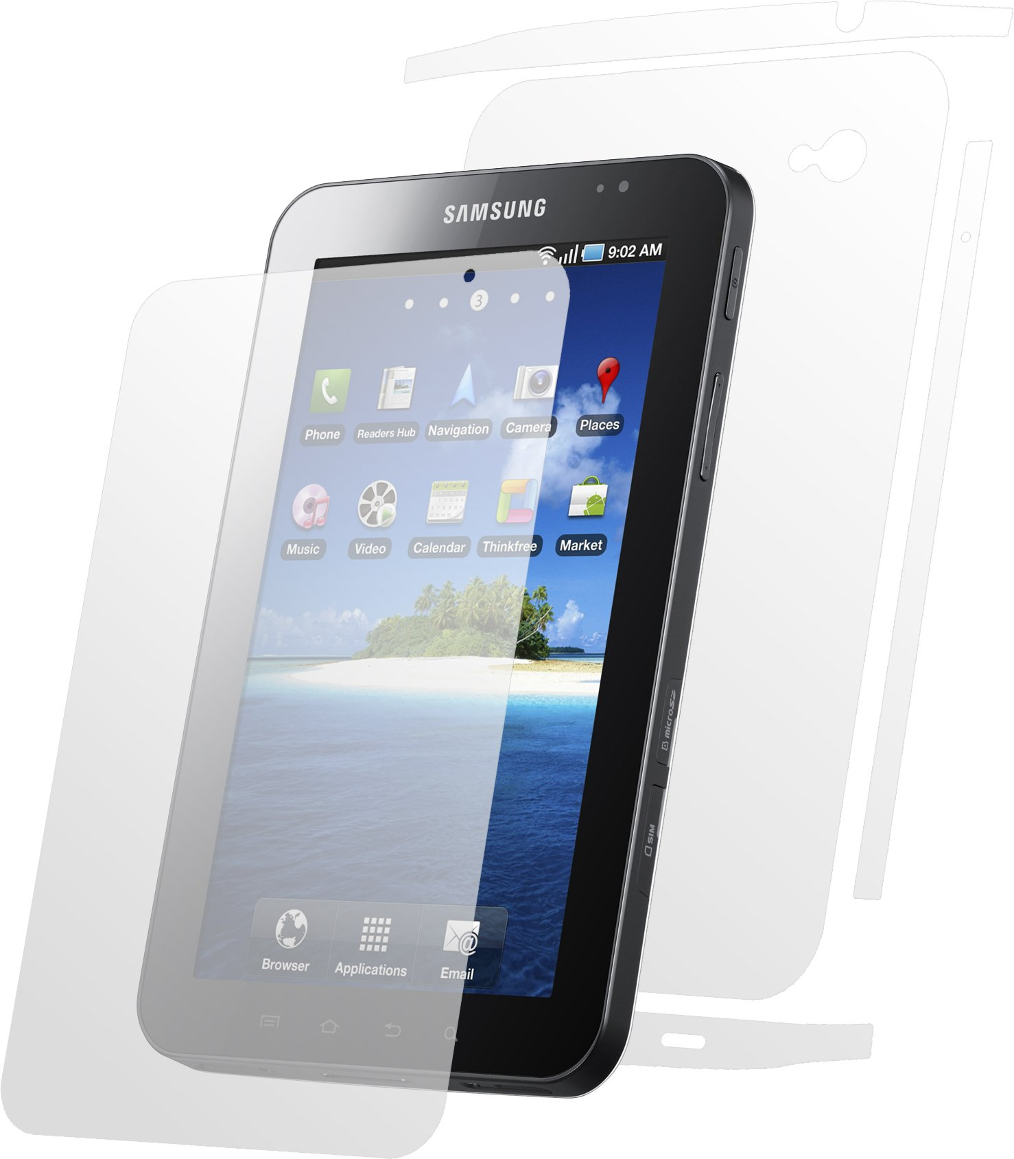 Clear-Coat Full Body Scratch Protector for The Samsung Galaxy Tab