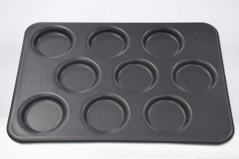 LloydPans Egg Pan 12.88 x 17.88 Inch 9-Cavity Round Egg Pan Pre-Seasoned PSTK