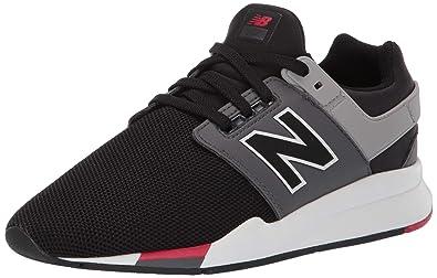 c7470c9009fea New Balance Boys' 247v2 Sneaker Black/Mineral Rose 6 M US Big Kid