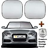 EcoNour Premium Car Windshield Sunshade-Universal Fit for Car, SUV, Van,Truck-. 210T Nylon Material- Heat and Sun Reflector