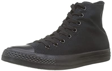 2347b60ac3 Converse Unisex Chuck Taylor® All Star® Core Hi Monochrome Black Men's 8,  Women's