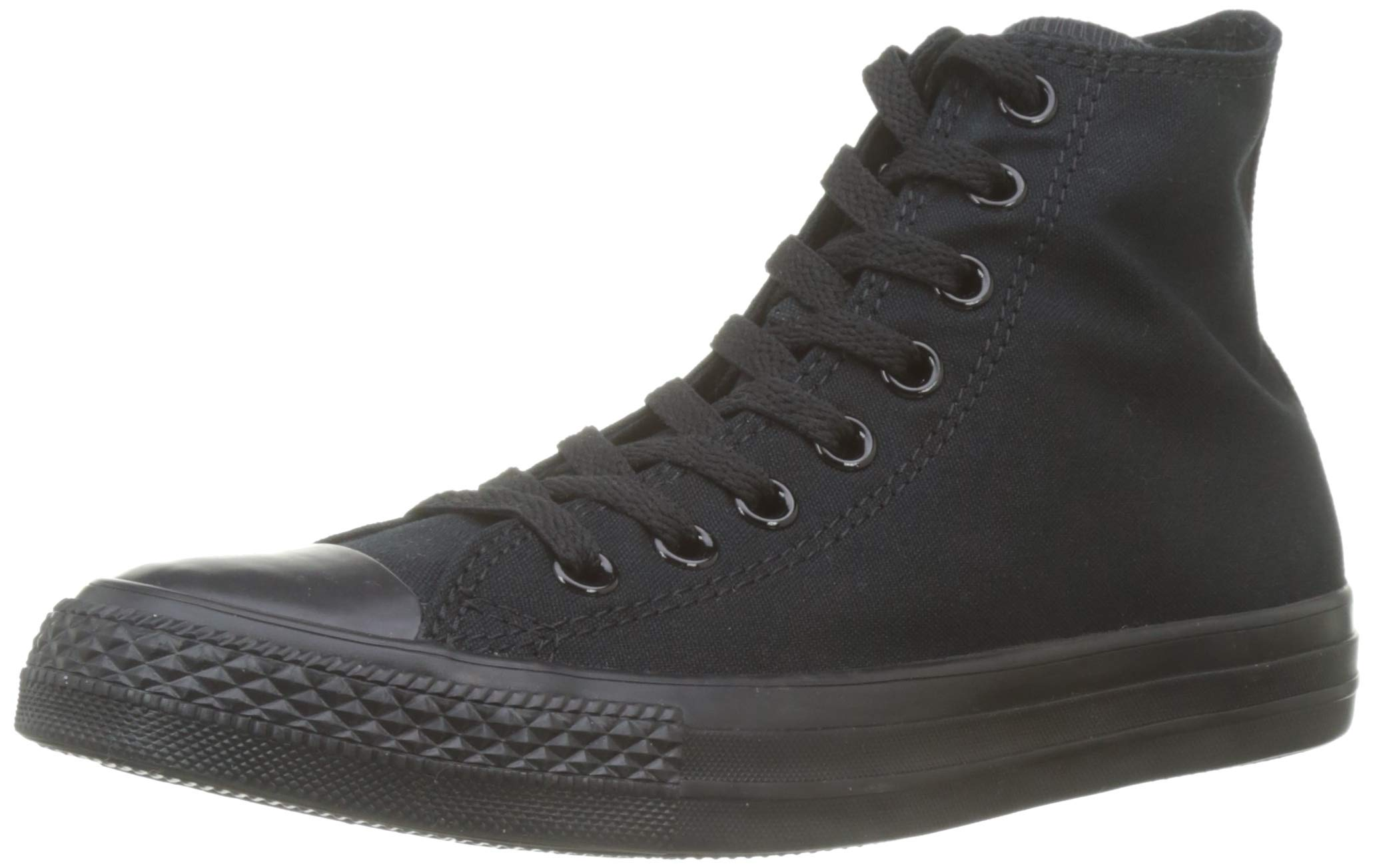 Converse Mens Chuck Taylor All Star High Top, 6 B(M) US Women / 4 D(M) US Men, Black Monochrome