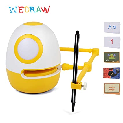Drawing Robot ,WEDRAW Eggy Robot toy for kids, Tech toys, Educational Toys  for 3 years old children,Plastic cards, Genius Kit for learning Drawing ,