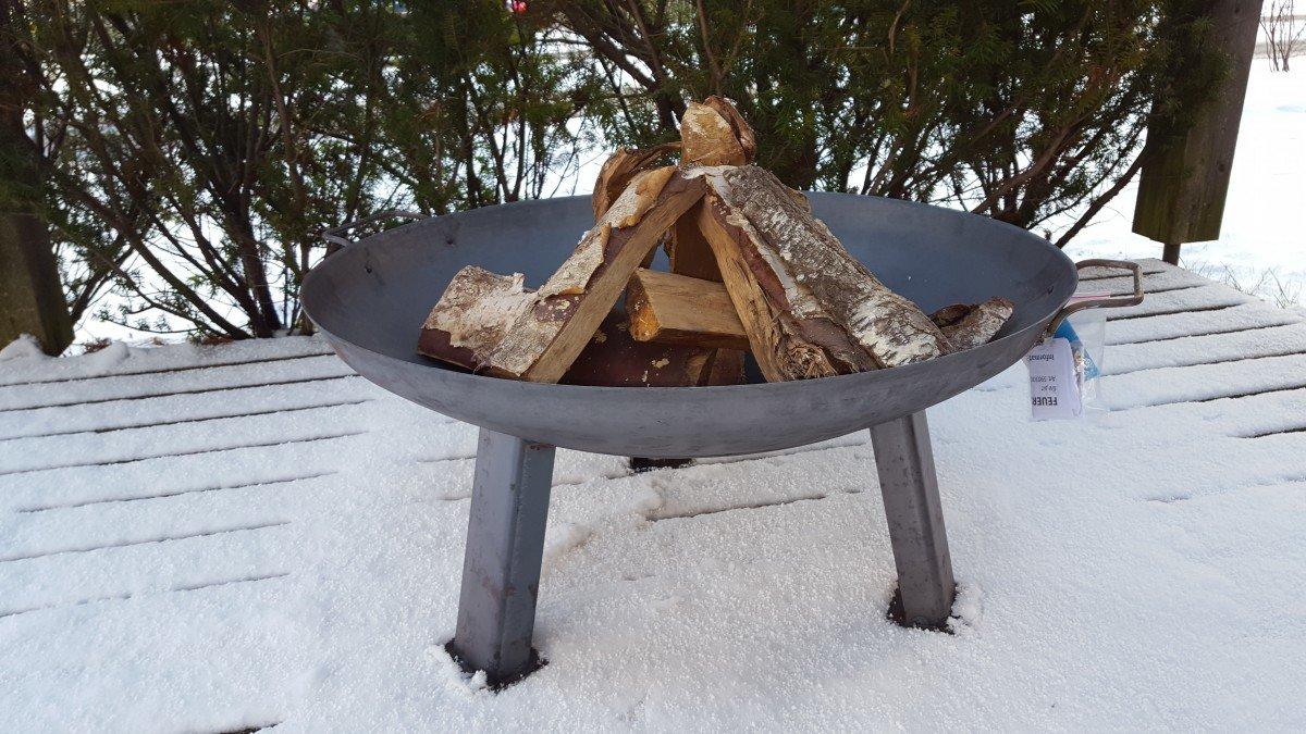 Feuerschale Feuerstelle 2er Set Feuerkorb Gartenfeuer Lagerfeuer Stahl Outdoor
