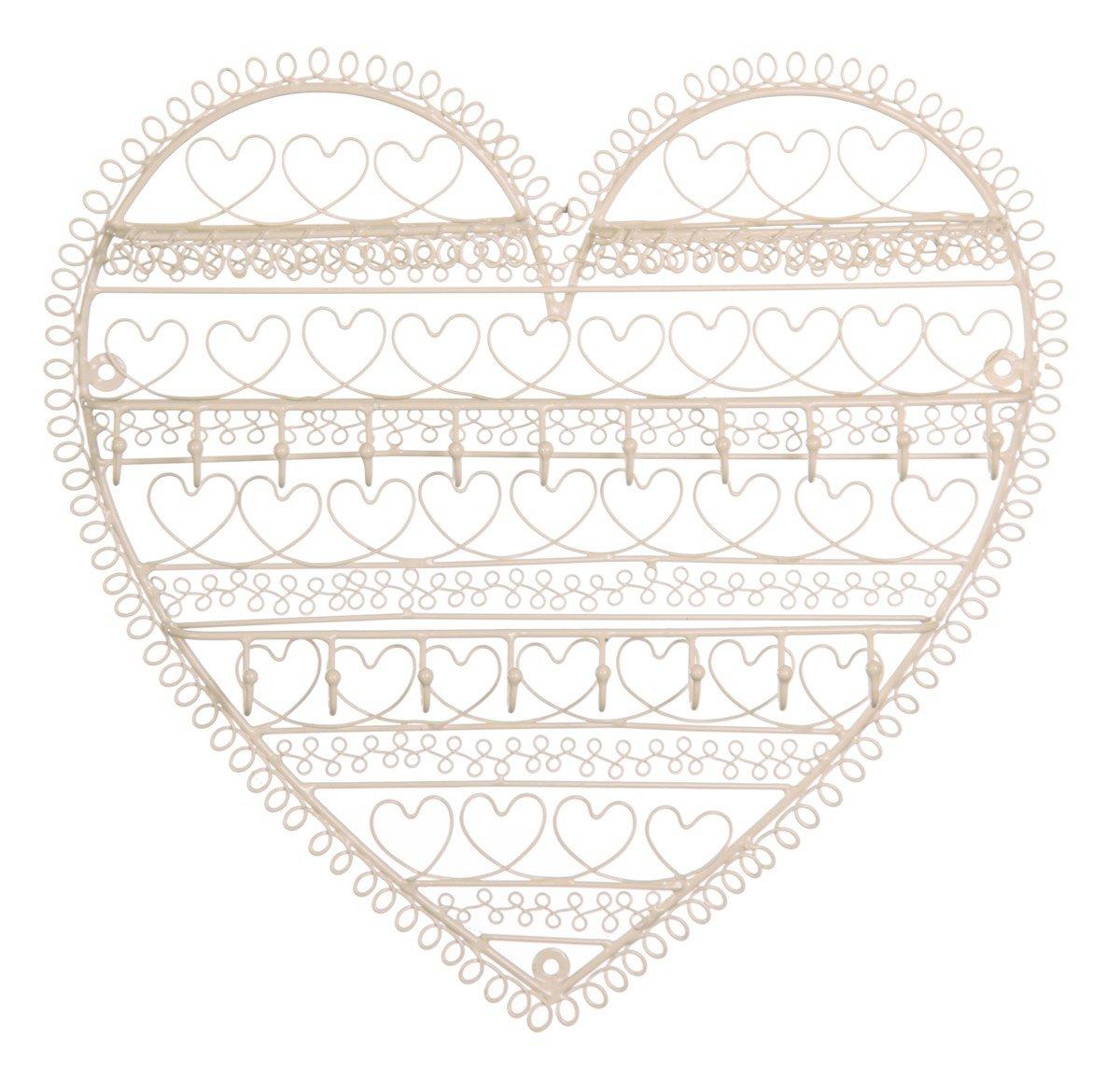 RJB Stone - Porta bijoux da parete a forma di cuore sass & belle