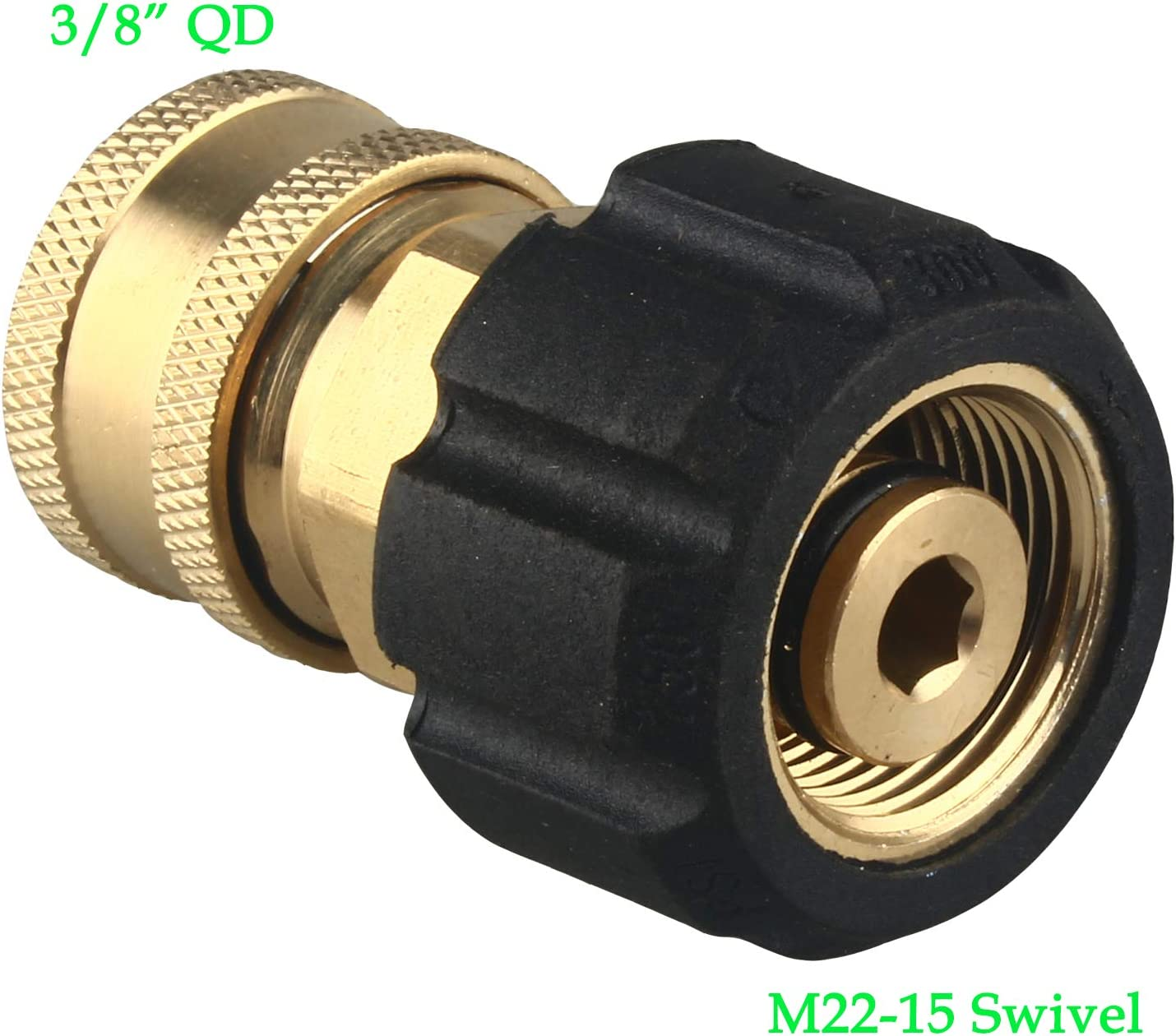 "New Pressure Washer HOSE COUPLING 3//8/"" 15mm Female Thread Quick Release"