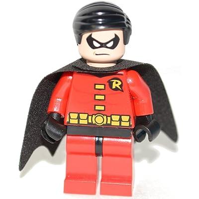 LEGO DC Comics Super Heroes Batman Minifigure - Robin (Red): Toys & Games