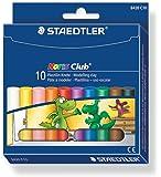 Staedtler - Noris Club 8420 C10 - Etui Carton 10 Bâtons Pâte à Modeler Assortis