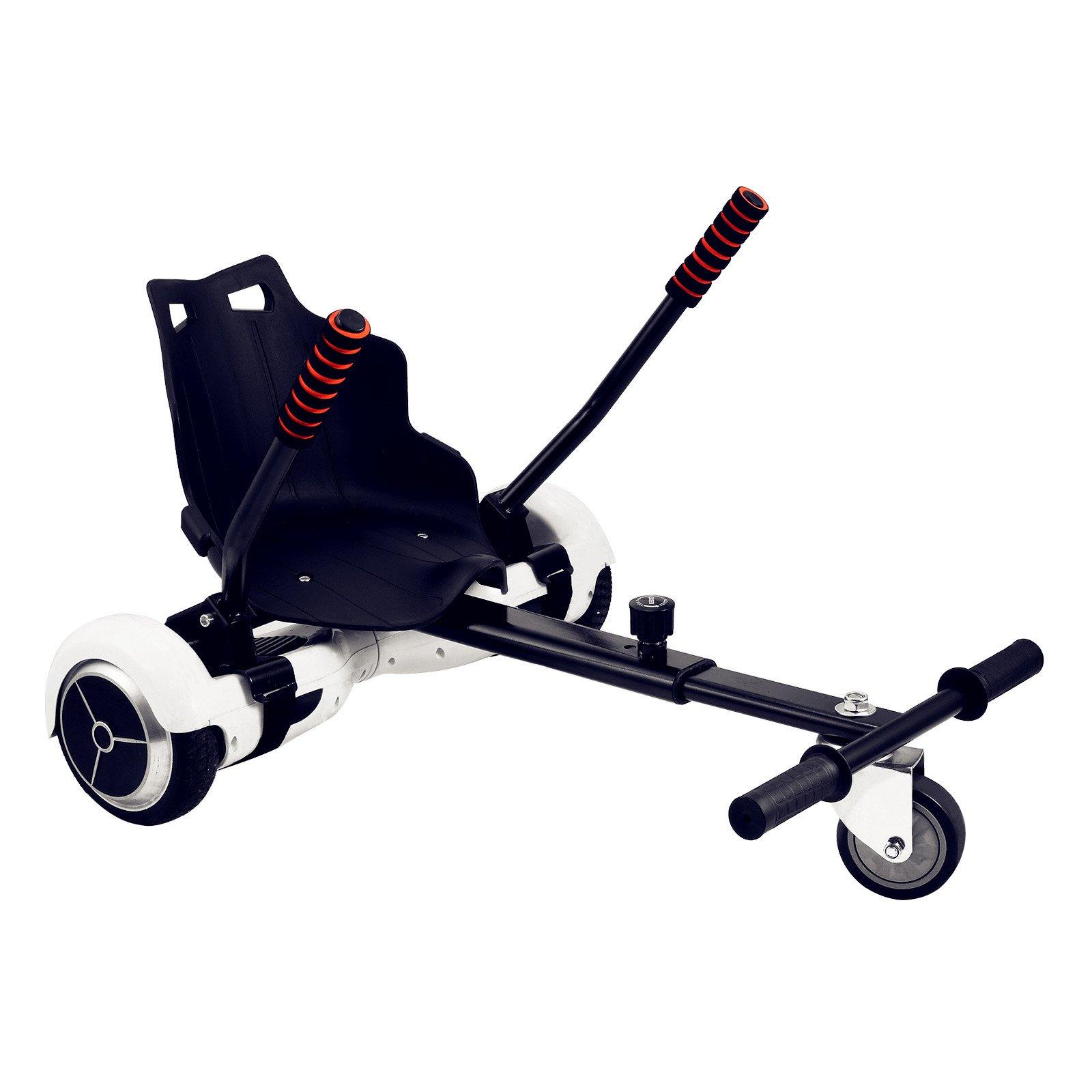 Popsport Adjustable Hover Go Kart Hover Kart Stand Go Kart Seat for 6.5'' 8'' 10'' Two Wheel Self Balancing Scooter (Hover Go Kart)