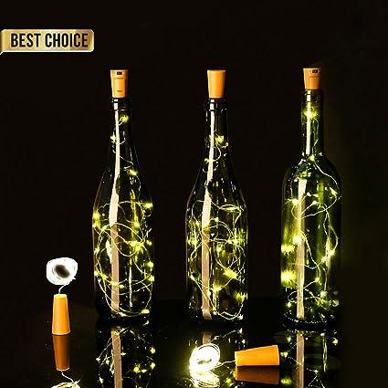 Luces Led Pilas,LED Lámpara de Botella para Navidad,DIY Decoración ...