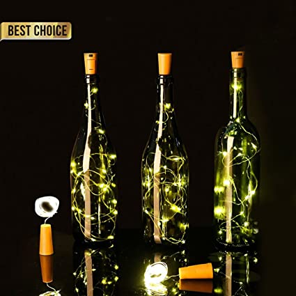 Luces Led Pilas,LED Lámpara de Botella para Navidad,DIY Decoración Navideña Botella Guirnalda