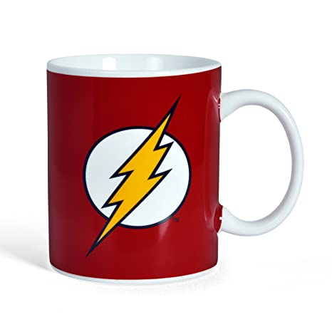 amazon com the flash logo mug marvel comic coffee cups mugs