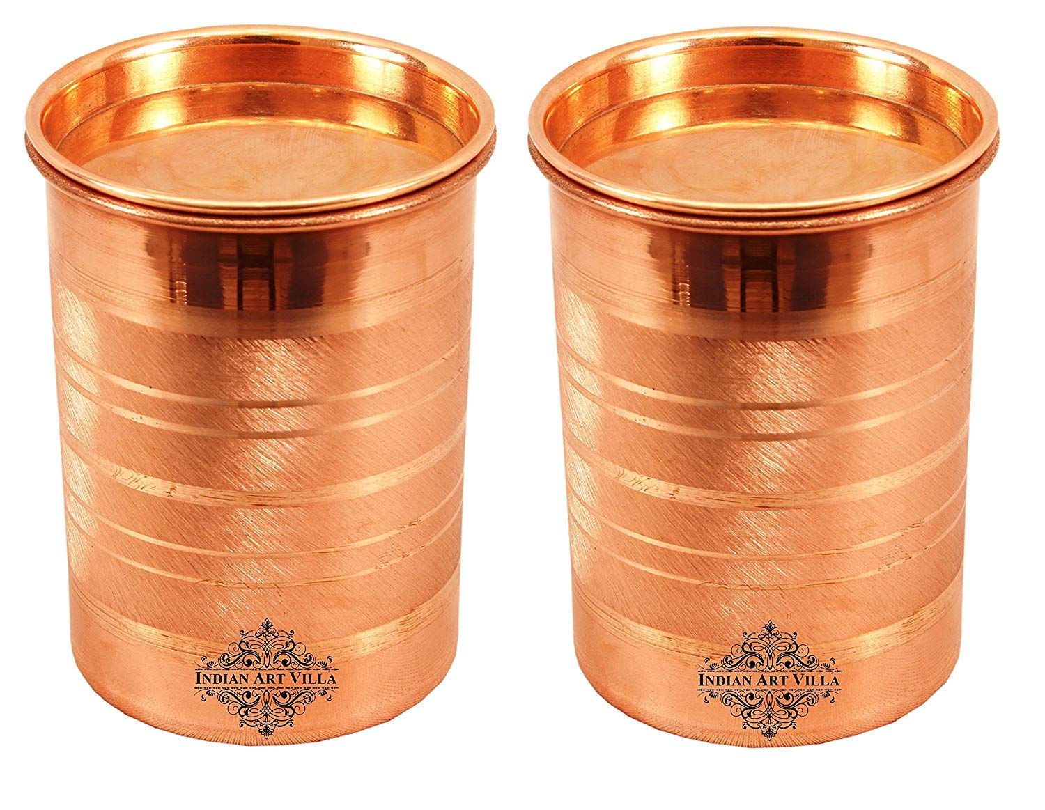 Amazon.com: Copper Glass Tumbler Cup with Lid Set, Drinkware ...