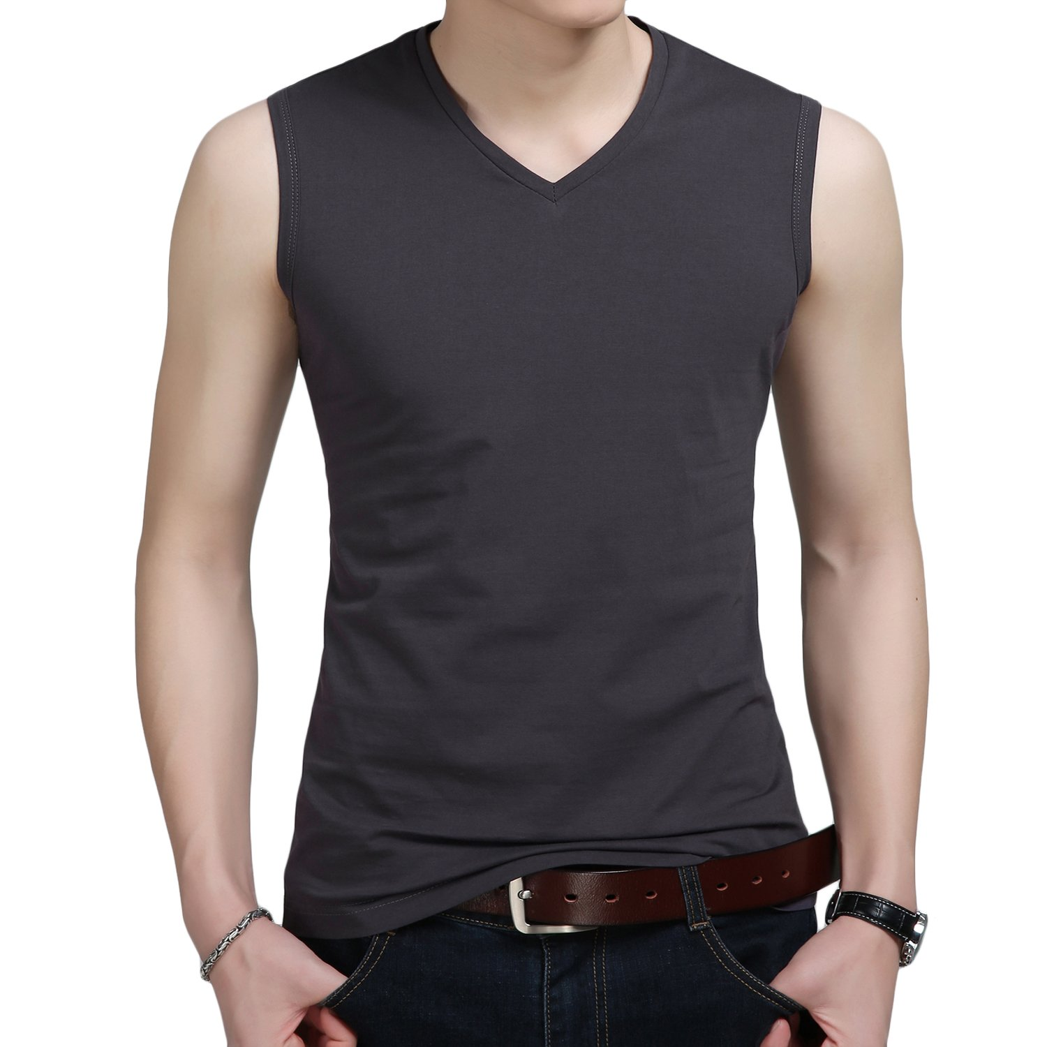 281cdea3 Online Cheap wholesale YinQ Mens Casual V-Neck Sleeveless Tee Shirts Gym  Muscle T-Shirts Sport Tank Tops Tanks Tops Suppliers