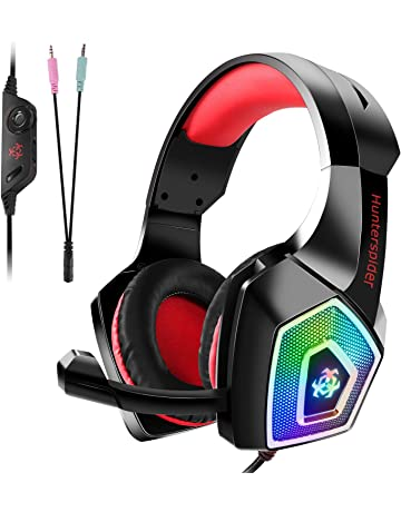 Auriculares Gaming Premium para PS4, PC, Xbox One, Cascos Gaming con LED,