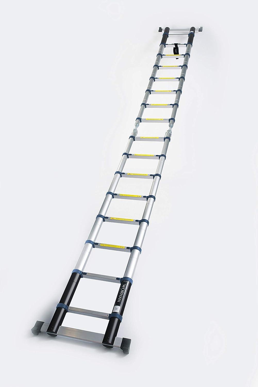 K5A 5m A-Line WORHAN/® Echelle 5m T/élescopique Aluminium Anodis/é Modulable Pliable Polyvalente Escabeau Solide 500cm
