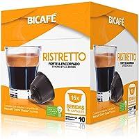 Cápsulas de Café Ristretto Bicafé, Compatível com Dolce Gusto, Contém 16 Cápsulas