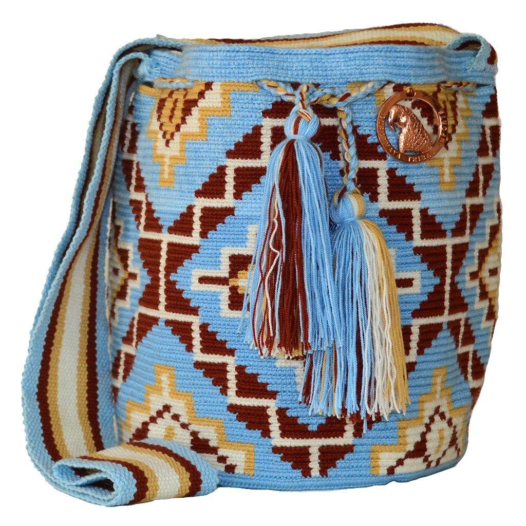 Amazon.com: Nuevo y auténtico Wayuu mochila bolsa, hecho a ...