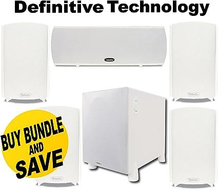 Definitive Technology ProMonitor 800 Bookshelf Speaker Single White ProCinema 1000