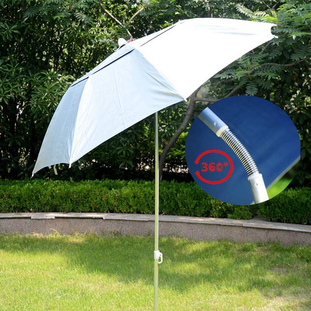 Sombrilla De Pesca Al Aire Libre 1,5 M Inclinación Paraguas Redonda, Sombrilla De Jardín Impermeable con Inserto En El Suelo, Refugio para Pesca, Jardinería Y Protección Solar