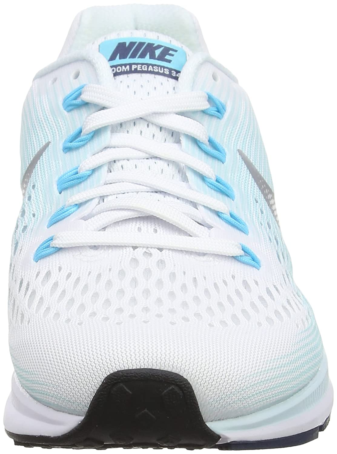 NIKE Women's Air Zoom Pegasus 34 B(M) Running Shoe B00EKWBD2S 7.5 B(M) 34 US|White/Metallic Silver-glacier Blue e536e8