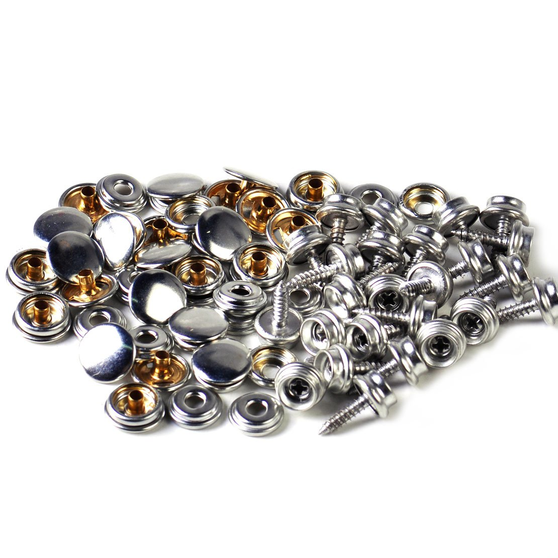25set Canvas Canopy Snap Stud Cap Boat Marine Cover Fastener Stainless Steel Screw eastar