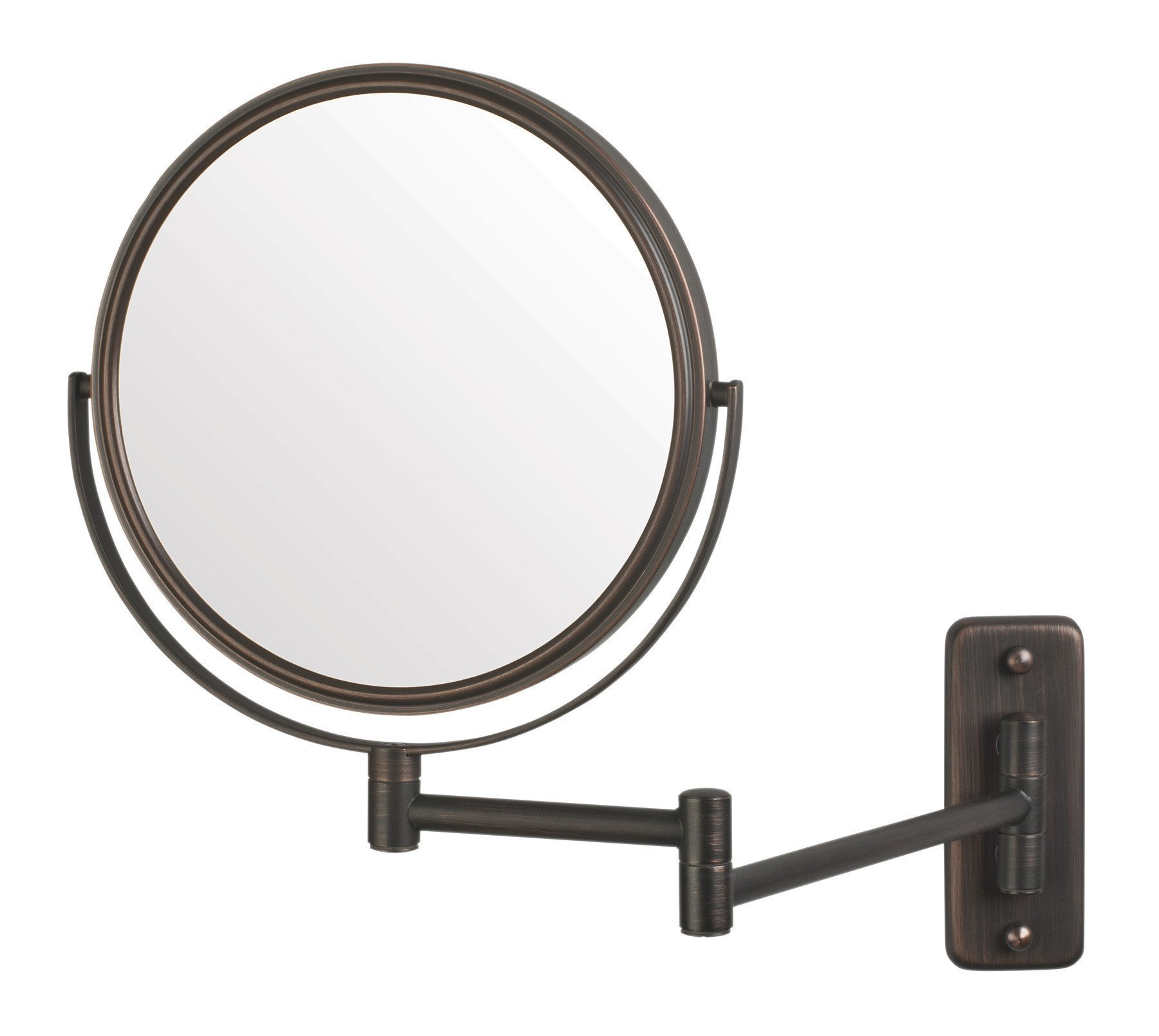 Jerdon JP7506BZ 8-Inch Wall Mount Makeup Mirror with 5x Magnification, Bronze Finish by Jerdon