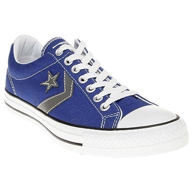 f487e87e6c6f ... switzerland converse schuhe all star star player ox stoff blau und weiß  logo 129769c 28623 43dd7