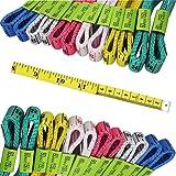 FF Elaine 24 Pcs Double-Scale 60-Inch/150cm Soft Tape Measure Ruler Bulk for Sewing Tailor Cloth - 6 Colors