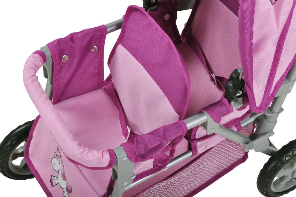 Knorrtoys 16674 knoortoys Twin Doll Wagon Bigtwin-Uma.The Unicorn Multi Color