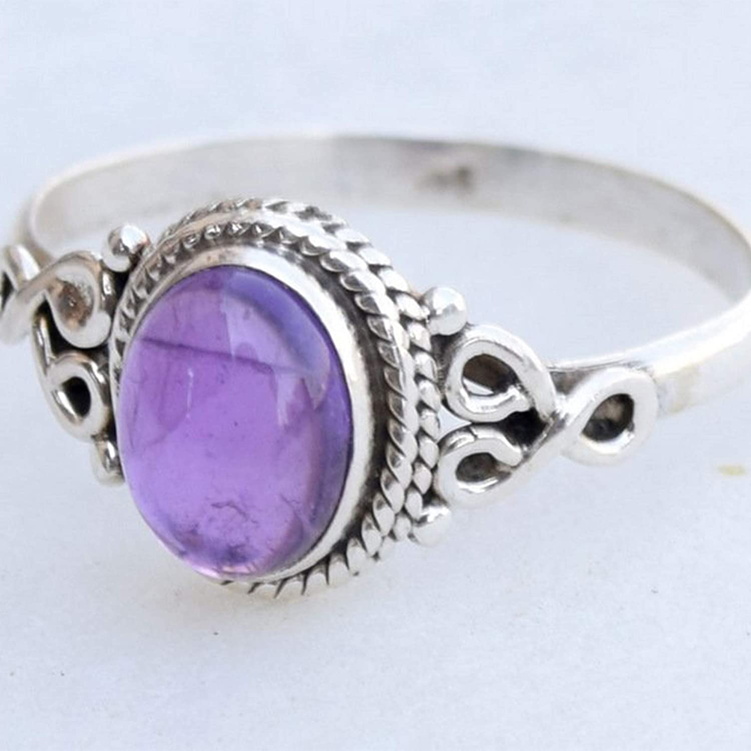 Amethyst Jewellery Gift For Her Womens Ring Women Jewellery Handmade Gift  925 Sterling Silver Ring Natural Amethyst Jewellery Gemstone