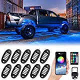 MustWin RGB LED Rock Lights, 150 LEDs Multicolor Neon Underglow Waterproof Music Lighting Kit with APP & RF Control for…